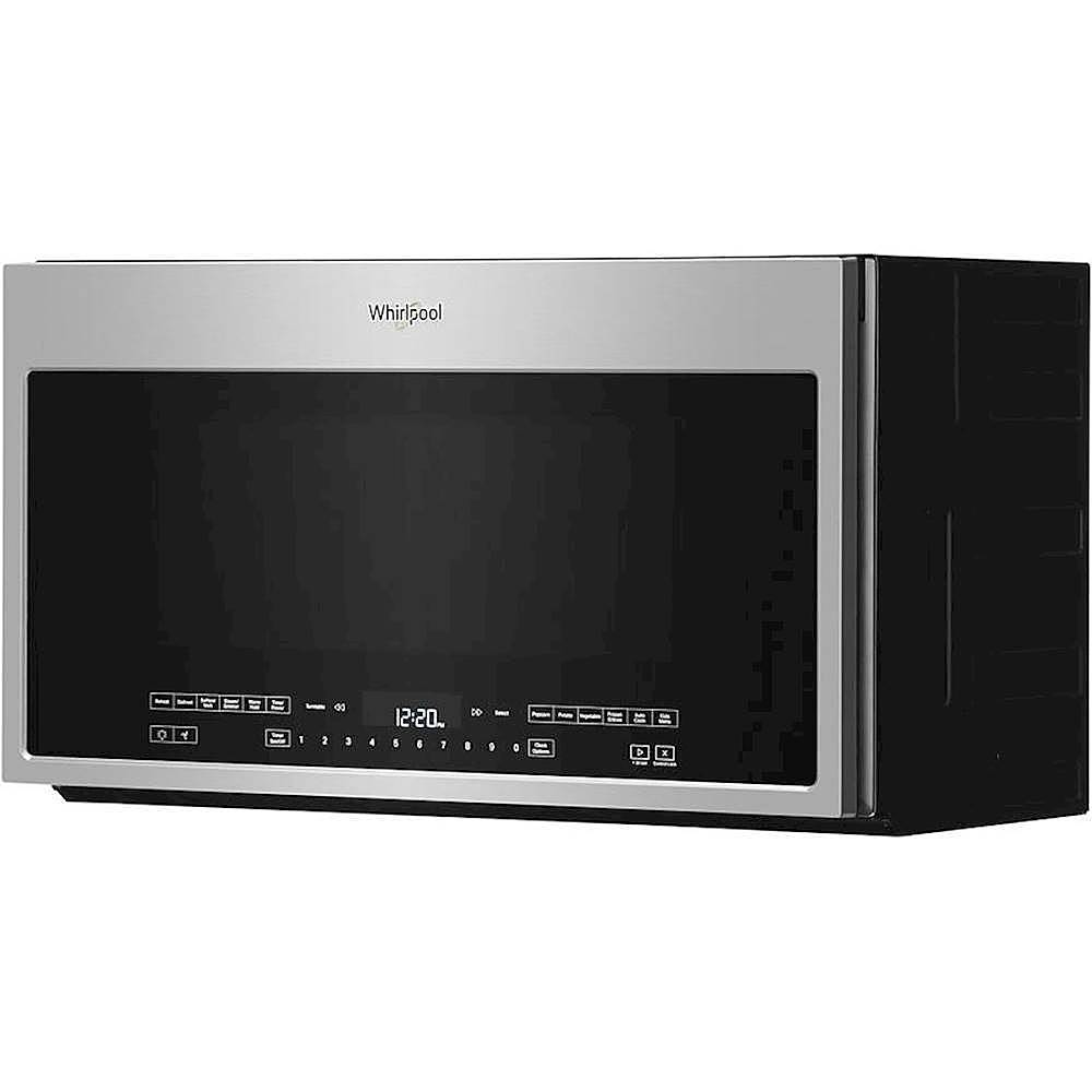 whirlpool 2 1 cu ft over the range microwave with steam cooking stainless steel
