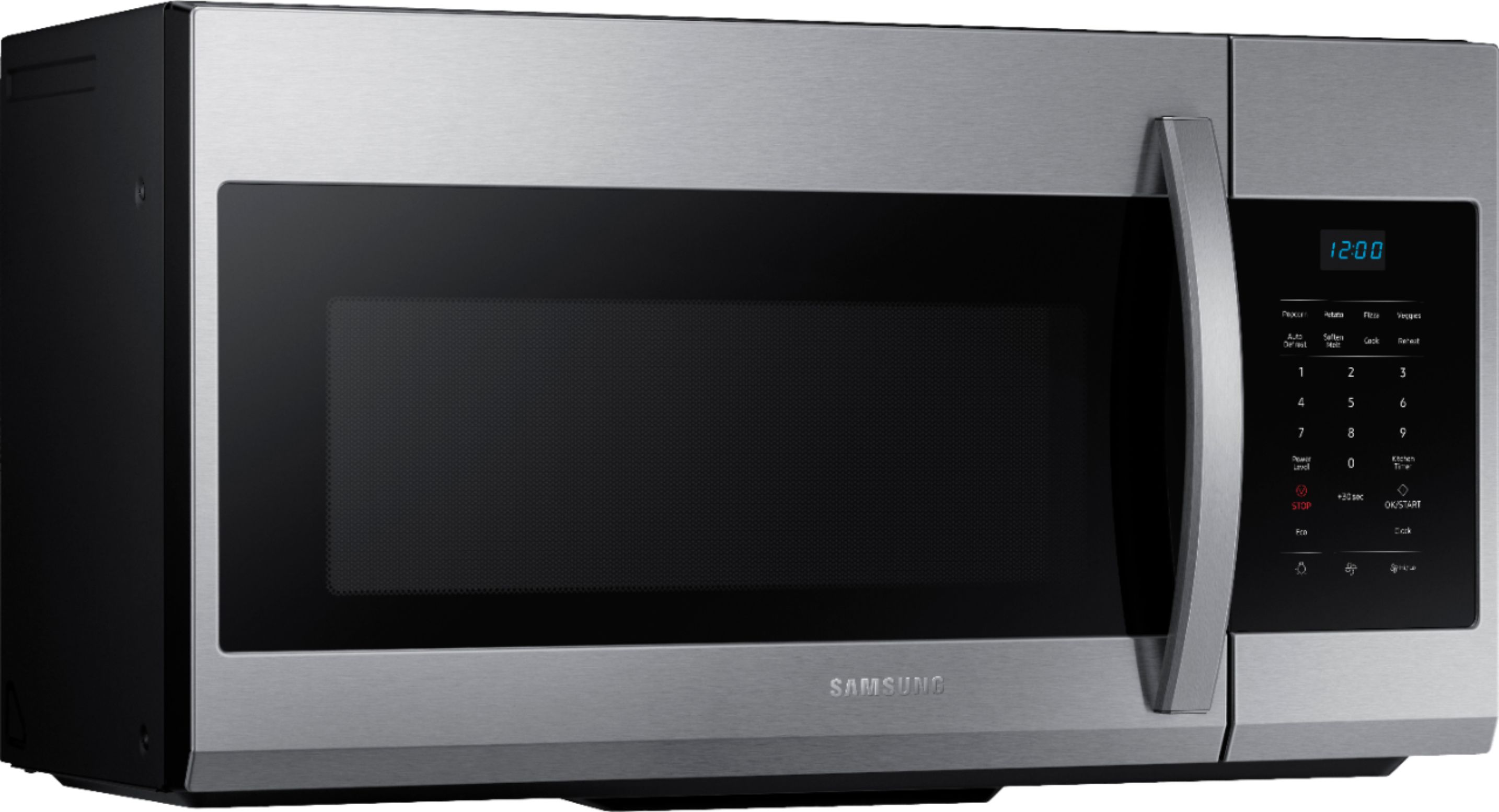 samsung 1 7 cu ft over the range microwave fingerprint resistant stainless steel