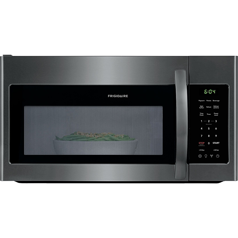 frigidaire 1 8 cu ft over the range microwave black stainless steel