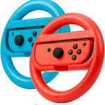 Rocketfish Joy Con Racing Wheel Two Pack For Nintendo Switch Red Blue Rf Nsjcw2 Best Buy
