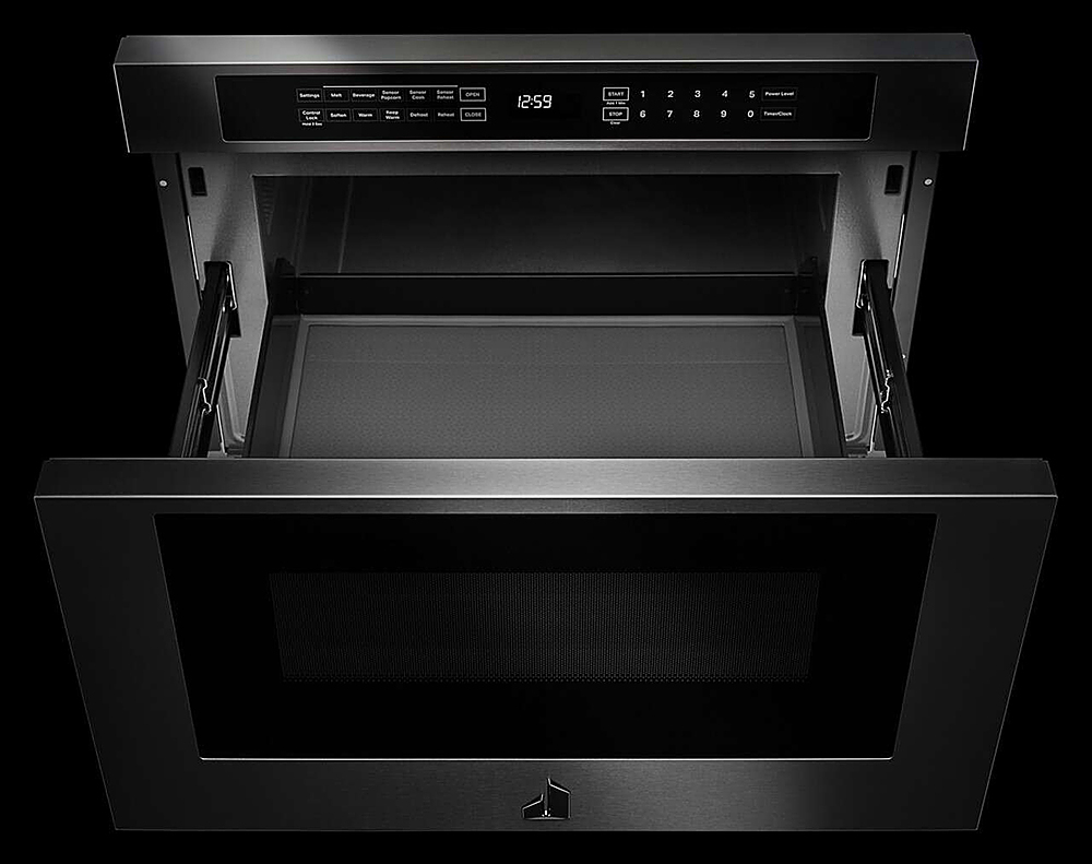 jennair rise 1 2 cu ft drawer microwave with sensor cooking stainless steel