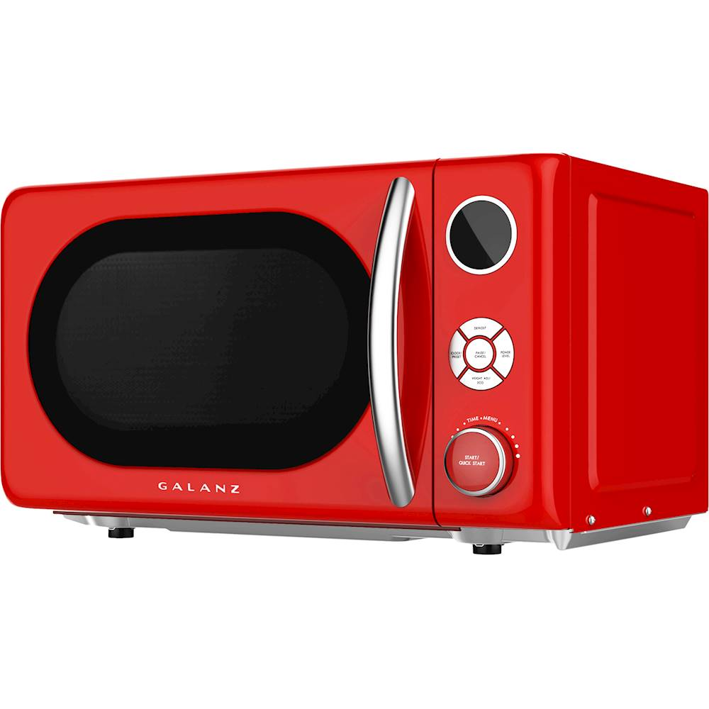 galanz retro 0 7 cu ft microwave hot rod red