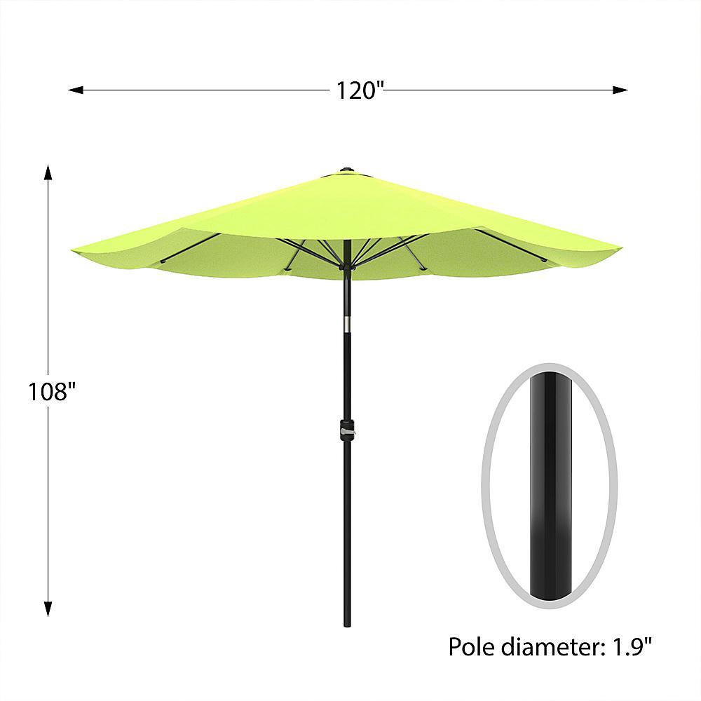 pure garden patio umbrella shade with easy crank and auto tilt outdoor table umbrella for deck balcony porch backyard poolside green