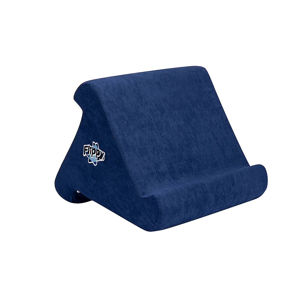 happy products flippy cubby multi angle soft stand for tablets e readers and books navy