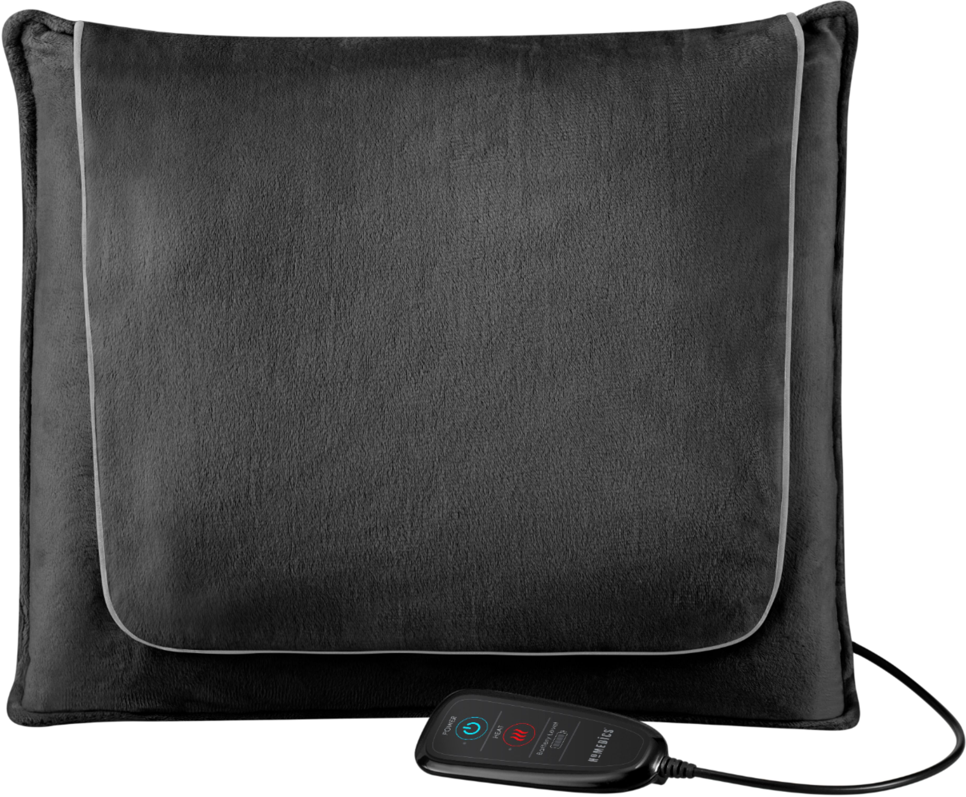 homedics cordless shiatsu massage pillow with heat black