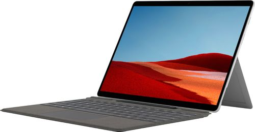 """Microsoft - Surface Pro X - 13"""" Touch-Screen - MS SQ2 - 16GB Memory - 512GB SSD - Wi-Fi + 4G LTE - Device Only (Latest Model) - Platinum"""