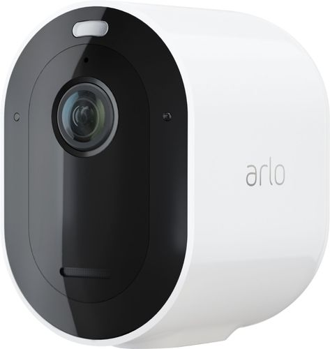 Arlo - Pro 4 Spotlight Camera – Indoor/Outdoor 2K Wire-Free Security Camera with Color Night Vision - White