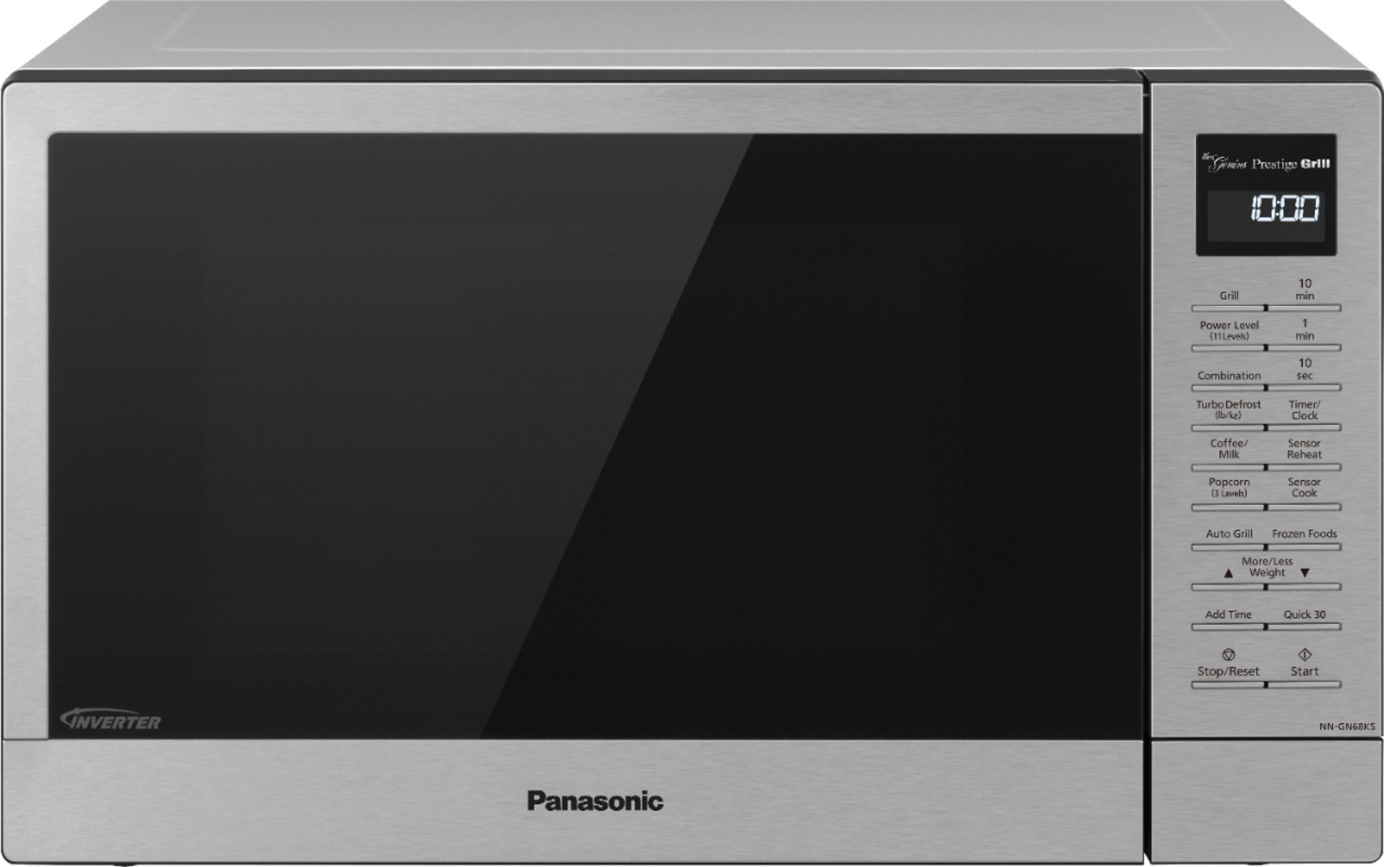 panasonic nn gn68ks countertop microwave oven with flashxpress 2 in 1 broiler food warmer 1 1 cu ft