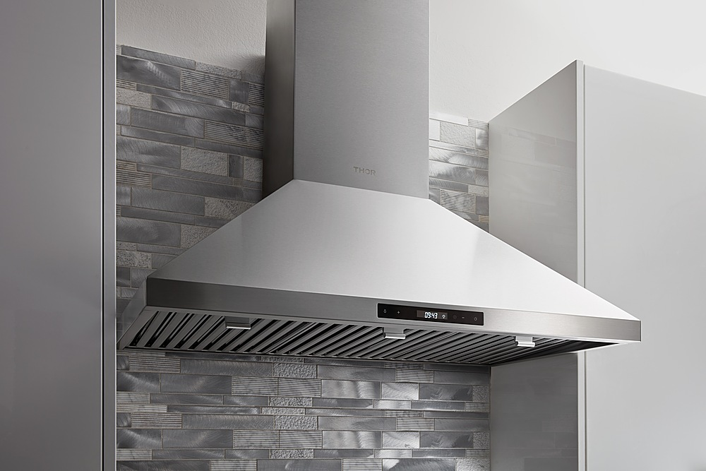 thor kitchen 36 inch wall mount range hood in stainless steel stainless steel