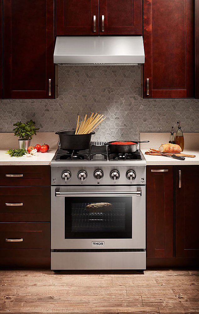 thor kitchen 36 inch professional wall mounted range hood 16 5 inches tall in stainless steel stainless steel