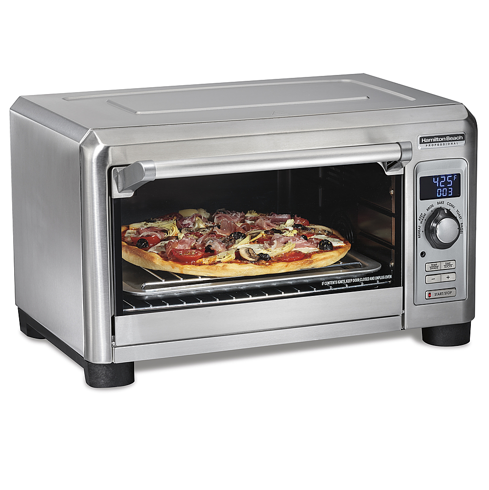 hamilton beach professional digital countertop oven with probe and 7 settings stainless steel 31240 best buy