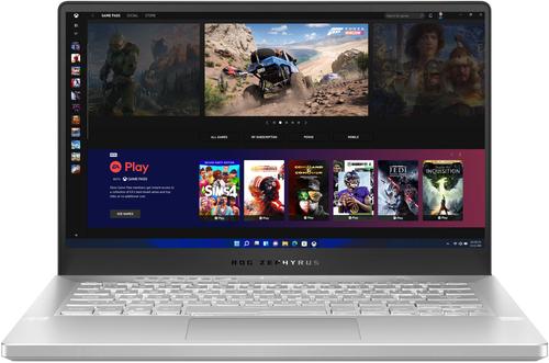 "ASUS - ROG Zephyrus 14"" Gaming Laptop - AMD Ryzen 9 - 16GB Memory - NVIDIA GeForce RTX 3060 - 1TB SSD - Moonlight White - Moonlight White"