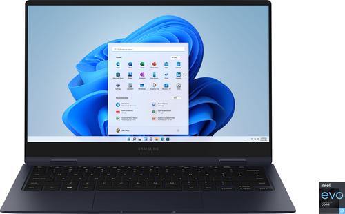 "Samsung - Galaxy Book Pro 360 13.3"" AMOLED Touch-Screen Laptop - Intel Evo Platform Core i7 - 16GB Memory - 512GB SSD - Mystic Navy"