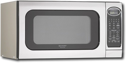 sharp 2 0 cu ft full size microwave stainless steel
