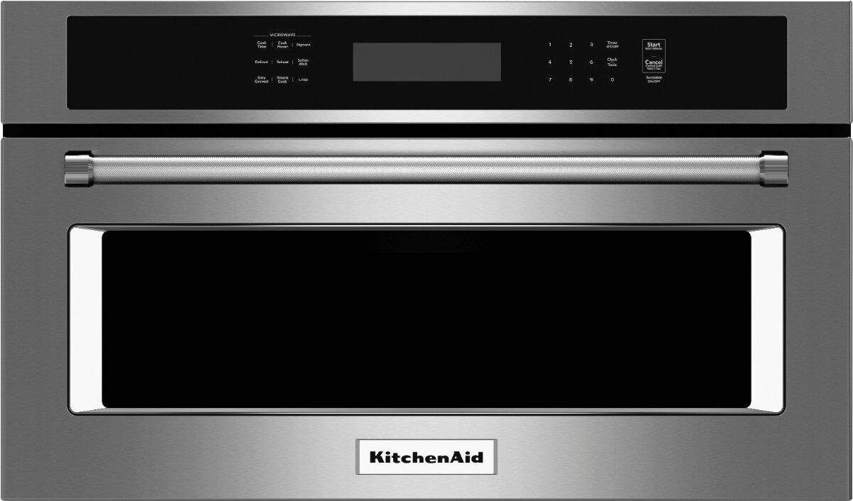 kitchenaid 1 4 cu ft built in microwave stainless steel
