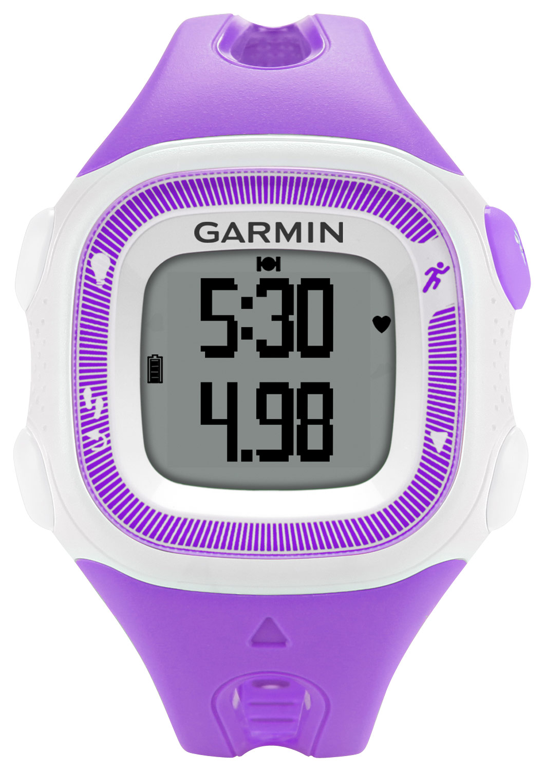 Garmin - Forerunner 15 GPS Watch (Small) - Violet/White - Larger Front