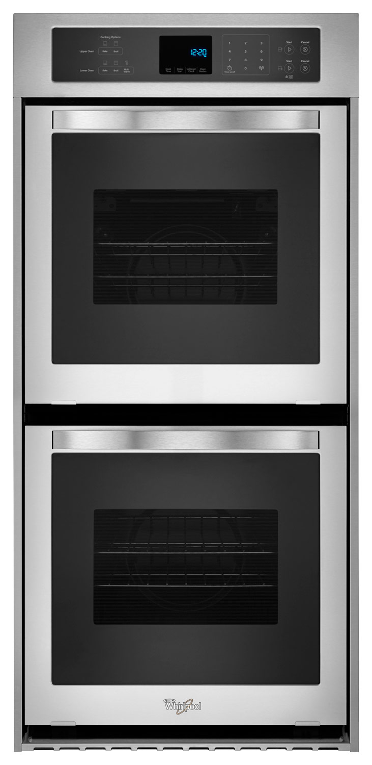 whirlpool 24 built in double electric wall oven stainless steel