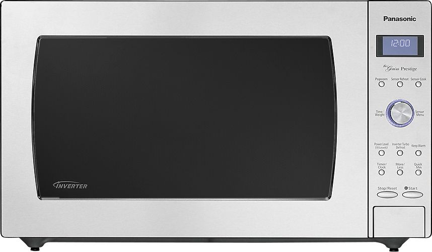 panasonic 2 2 cu ft full size microwave stainless steel