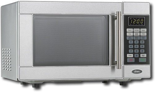 oster 0 7 cu ft compact microwave stainless steel