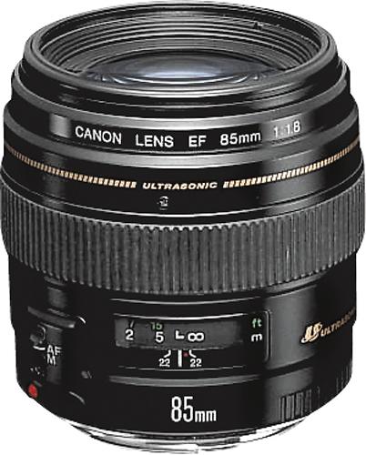 Canon - EF 85mm f/1.8 USM Medium Telephoto Lens - Black