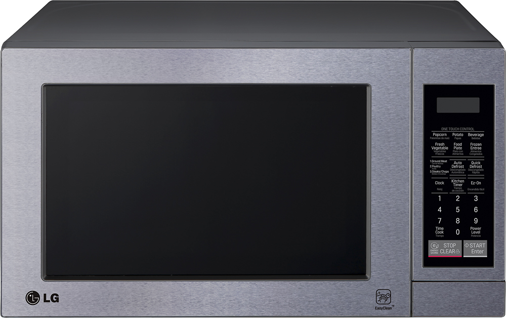 lg 0 7 cu ft compact microwave stainless steel