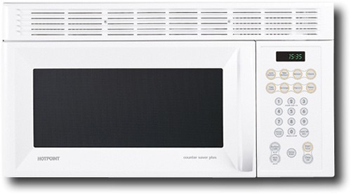 hotpoint 1 5 cu ft over the range microwave white