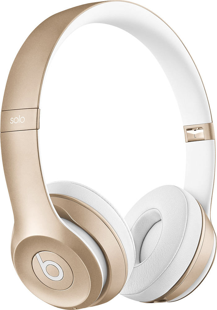 Beats by Dr. Dre - Solo 2 On-Ear Wireless Headphones - Gold - Front Zoom