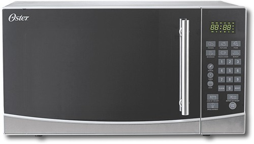 oster 1 1 cu ft mid size microwave stainless steel