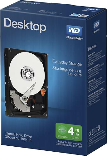 WD Desktop Everyday 4TB Internal SATA Hard Drive For