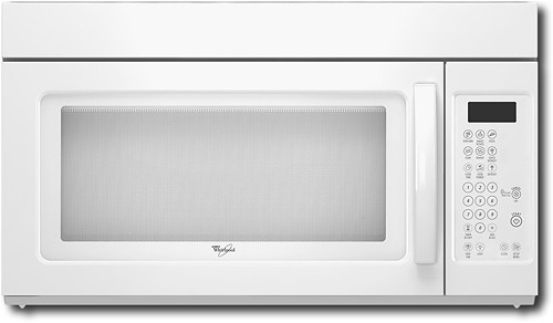 whirlpool 1 6 cu ft over the range microwave white on white