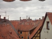 red rooftops in Rothenburg