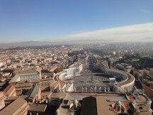 view from St Peters Basilica in Roma
