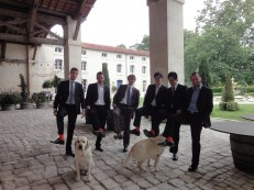 socks to match the grooms, (the Domaine guarddogs were clearly jealous)