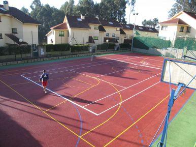 Polideportivo, pavimento quick y ormigón pulido.