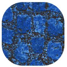 Liner imprimé piscine Byzantin Bleu