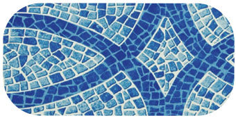 Frise de piscine lisboa bleu