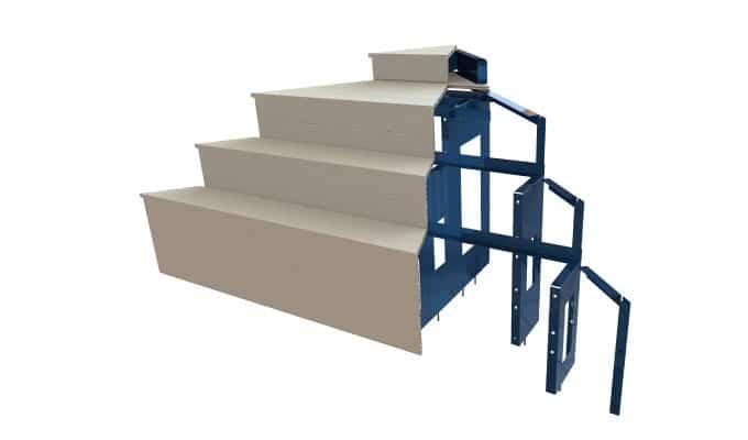 Escalier d'angle US en 3D