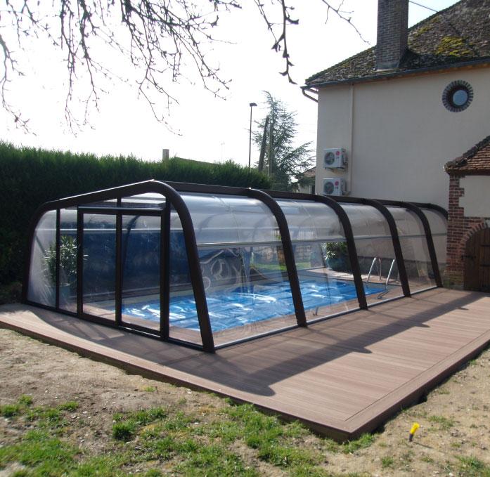 Abri asymétrique de piscine - Piscines Aquadiscount