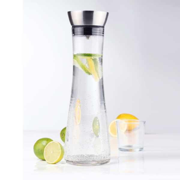 HI Decantor de apă cu gură de scurgere, transparent, 1 L