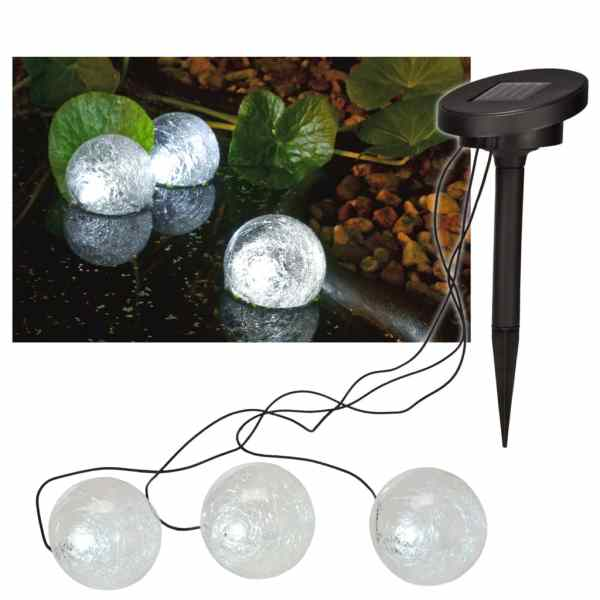 HI Lampă de iaz solară cu LED plutitoare, 9 cm