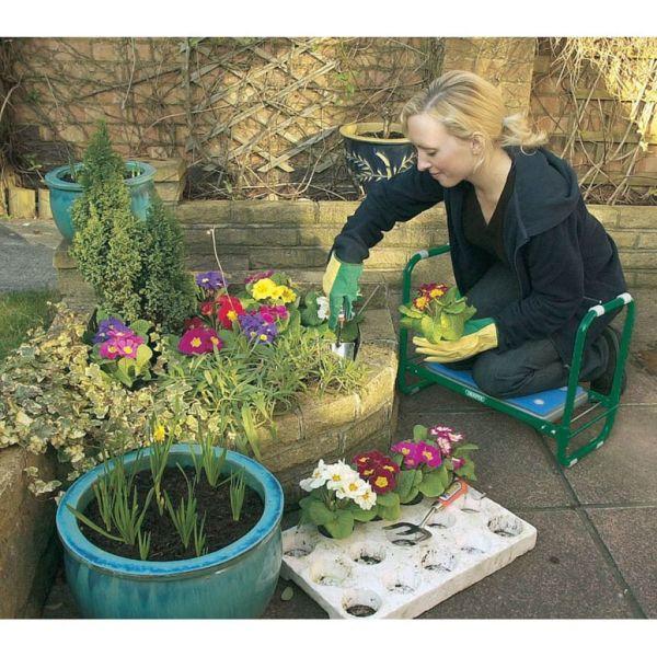 Draper Tools Scaun/ Suport de grădinărit pliabil, verde, fier, 64970