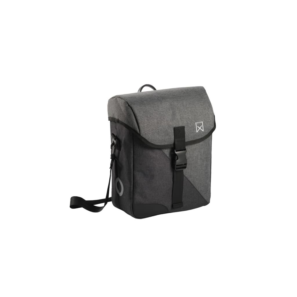 Willex Geantă de umăr pentru bicicletă Flex 800, gri și negru, 14 L