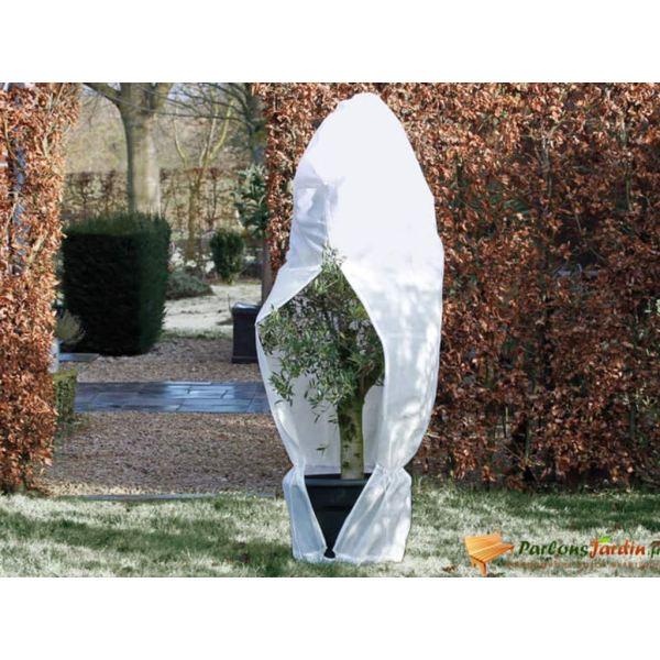 Nature Husă anti-îngheț din fleece cu fermoar alb 2,5x2x2 m, 70 g/m²