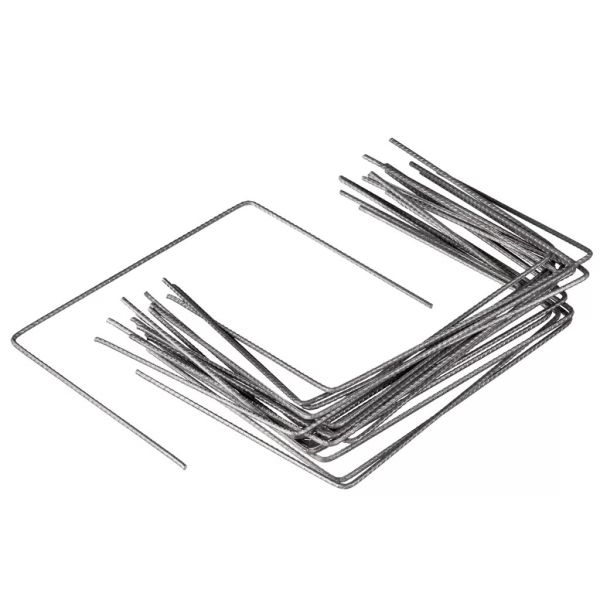 Nature Capse de fixare folie anti-buruieni, 20 buc., 25×20 cm, metal