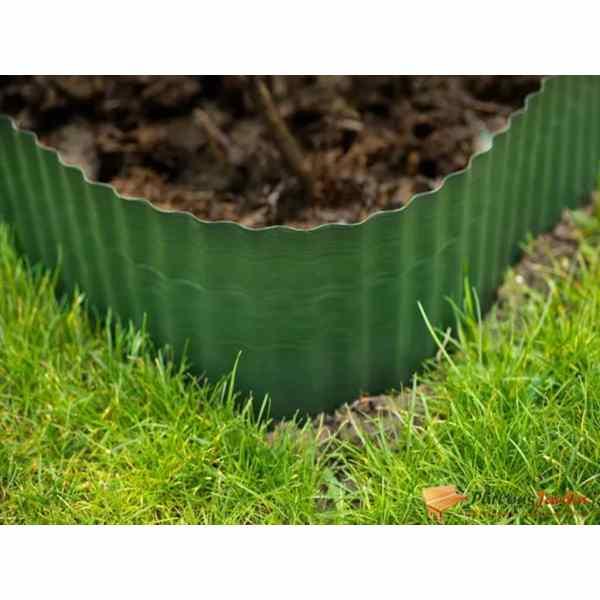Nature Bordură de grădină, verde, 0,2 x 9 m