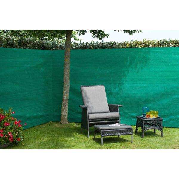 Nature Gard de grădină paravan din plasă, verde, 1 x 3 m, PE