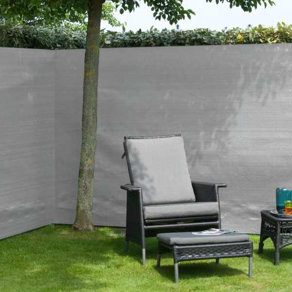 Nature Gard de grădină paravan din plasă, gri, 1 x 3 m, PE