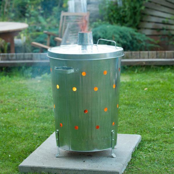 Nature Incinerator de grădină, 46×72 cm, oțel galvanizat, rotund