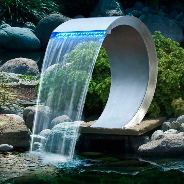 Ubbink Cascadă Mamba, oțel inoxidabil, cu iluminare LED