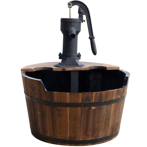 Ubbink Fântână de grădină butoi de lemn